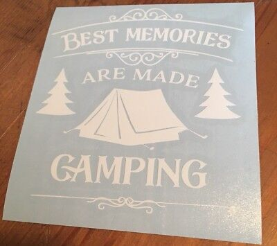 The Best Memories Are Made Camping Car Window Decal