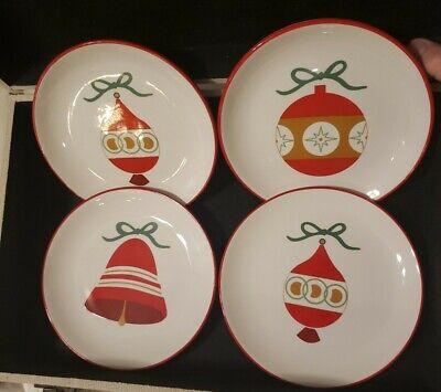 "Martha Stewart Collection Christmas Snack Plates Set 7"" Living Ornaments Box"