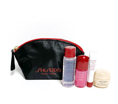 Shiseido Benefiance Wrinkle Smoothing Cream,Ultimune,Eye,Softener 5pc Travel Set