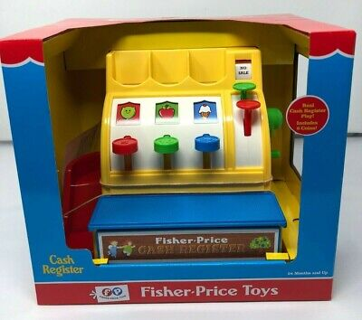 Fisher-Price CASH REGISTER Toy Preschool FP Includes 6 COINS Brand New NIB