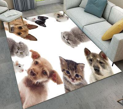 Floor Rug Mat Kids Bedroom Carpet Animals Pet Dog & Cat Living Room Area Rugs