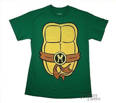 Teenage Mutant Ninja Turtles Michelangelo Costume TMNT Licensed Adult T Shirt