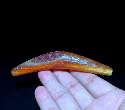 "Certified Tibetan Oily Agate Dzi Bead~Angular shape ""藏传牛角桶珠天珠"