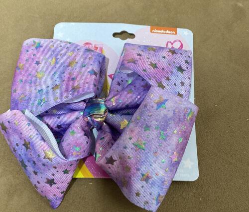 NEW JoJo Siwa Girls/' JoJo Siwa Silver Stars Bow Hairclip Mint Green Bow Clip