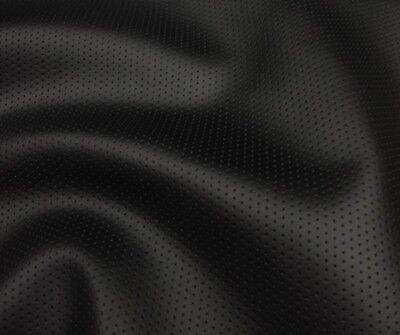 - vinyl Faux Leather Perforated Black commercial grade upholstery  fabric 55