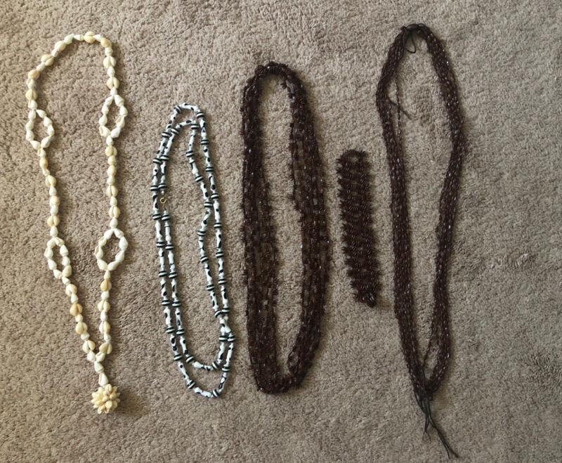 Vintage Hawaiian Sea Shell & Seed Necklace & Bracelet Lot