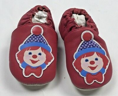 Gymboree Clown Crib Shoes Boy Girl Size 1 Toddler Baby Red - Girl Clown Shoes