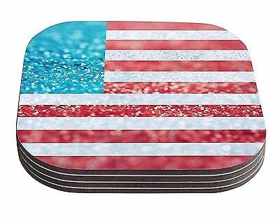 Kess InHouse Designs SET OF 12 USA Flag Coasters, Throw a Party!!!