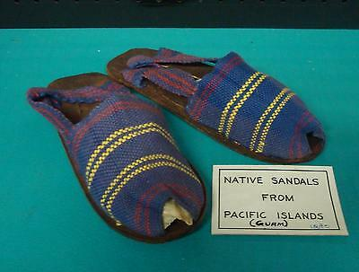 Beautiful Rare Vintage Native Sandals Shoes Pacific Island Guam 1880