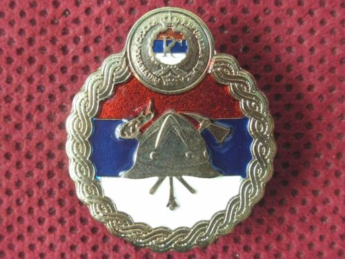 THE REPUBLIC OF SRPSKA - THE FIRE BRIGADE ASSOCIATION BADGE FOR VISOR HAT