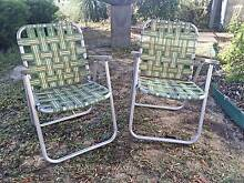 VINTAGE RETRO WEBBED CAMPING BEACH COMBI CARAVAN FOLDING CHAIR Quinns Rocks Wanneroo Area Preview