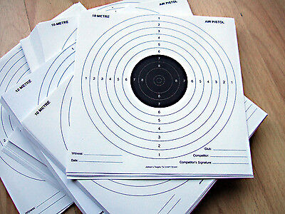 100 x 14cm PAPER Black & White Top Quality Air Rifle Pistol Shooting Targets