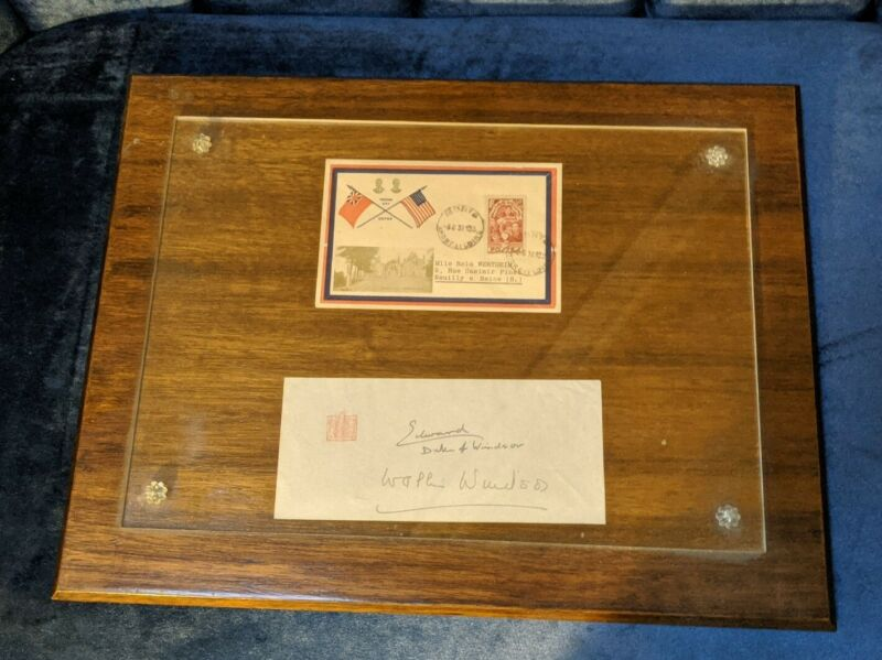 Wallis Simpson Duchess Of Windsor & Edward Hand Signed Signature Autograph