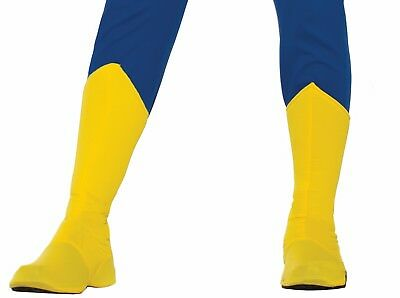 Superhero Yellow Adult Boot Top Shoe Cover LG 16