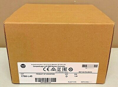 2018 New Sealed Allen-bradley 1768-l45 D Compactlogix L45 Processor 3mb Memory