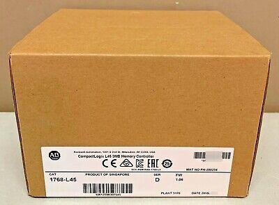 2018 New Sealed Allen-bradley 1768-l45 D Compactlogix L45 Processor 3mb Memory