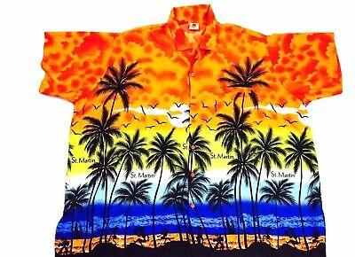 Vintage St. Marten shirt Tropical Shirt 1990s Shirt Virgin Islands shirt XXL image