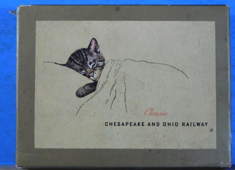 Chesapeake & Ohio Railway Playing Card Deck and Case 1943? C&O Chessie