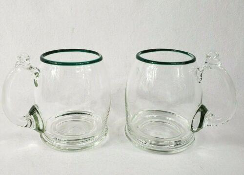 RARE JACK SCHMIDT STUDIOS ARTIST GLASS MUGS