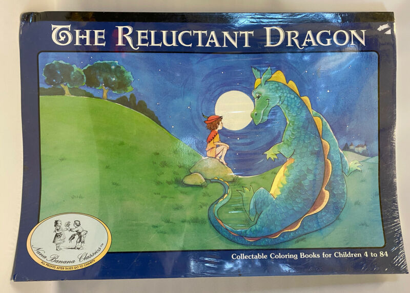 The Reluctant Dragon Giant Huge Coloring Book Collectible Nana Banana Sealed