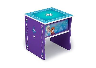Disney Frozen Bedside Table with Storage Bin Toddler Furniture Wood Nightstand - Frozen Table