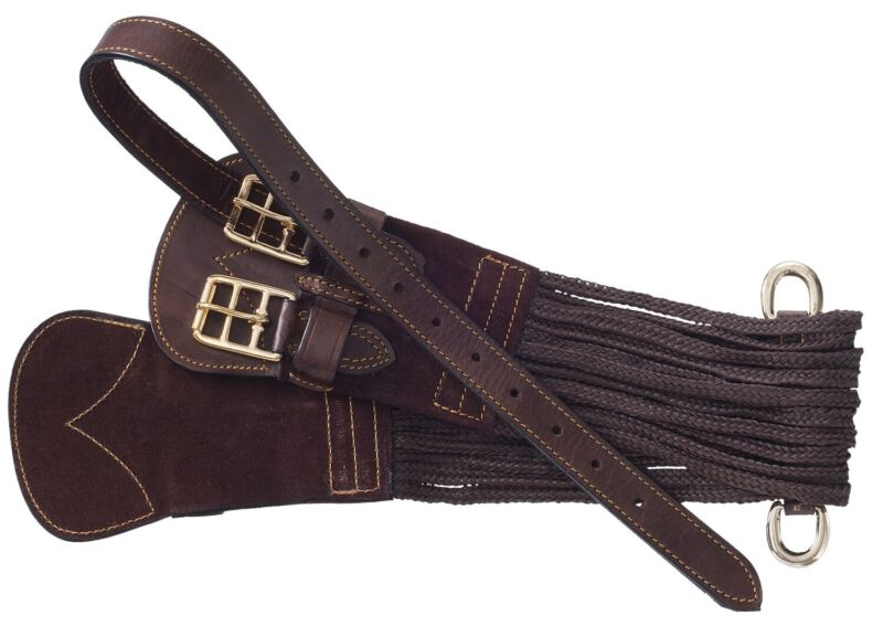 "Australian Saddle Supron Girth - Double Buckle - Brown - 32"", 34"" or 36"""