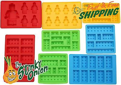 Lego Candy Mold 8pc Set Chocolate Blocks Build Silicone
