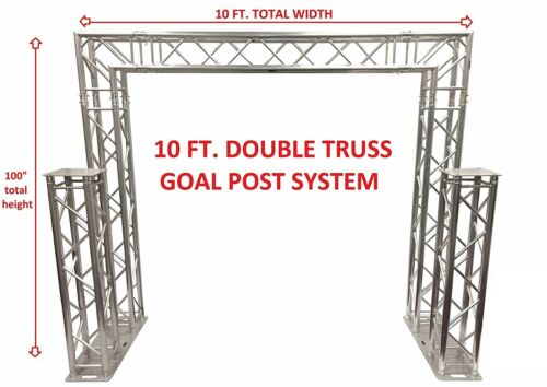 Complete 10ft Square Aluminum Double Truss Goal Post Lighting System DJ Lights
