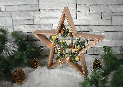 Wooden Nordic Pine LED Star Light Illuminated Christmas Xmas Table Decoration](Wooden Halloween Decorations Uk)