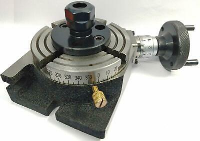 4 Inches 100 Mm Rotary Table With Er16 Collet Adapter
