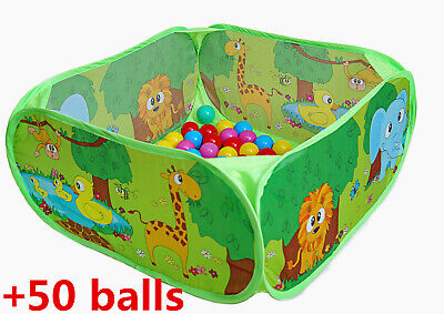 Baby Ball Pits (PLAY 10 Ball Pit Comes Together with 50 Balls Baby Pop up Ball Pool with Balls)