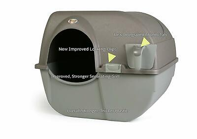 Cat Litter Box Self Cleaning Automatic Roll N Clean Removable Tray Waste Scoop Roll Litter Box