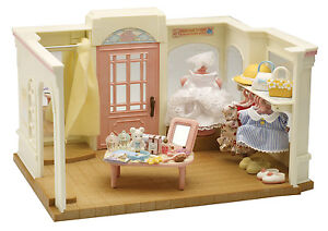 SYLVANIAN FAMILIES Store THE DRESS SHOP 25+ Pieces Mini Wedding Dress Doll House