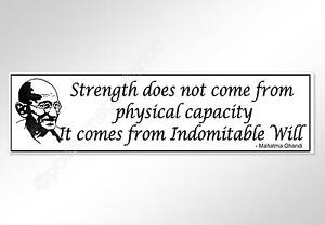 inspirational quote bumper sticker strength comes from