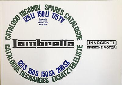 Lambretta Parts Book LI/TV/SX 125/150/175/200cc Series 3