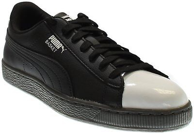 Patent Men Sneakers - Puma Basket Patent Sneakers - Black - Mens