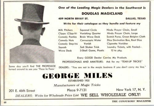 George Miles Magic Wholesale Douglas Magicland Tricks 1947 Vintage Print Ad