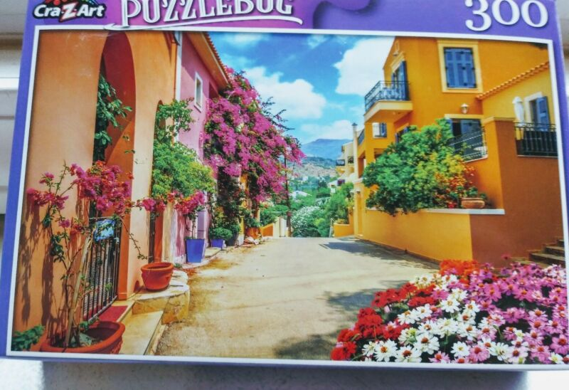 New 300 Piece Jigsaw Puzzle (Pretty Street in Greece) Puzzlebug