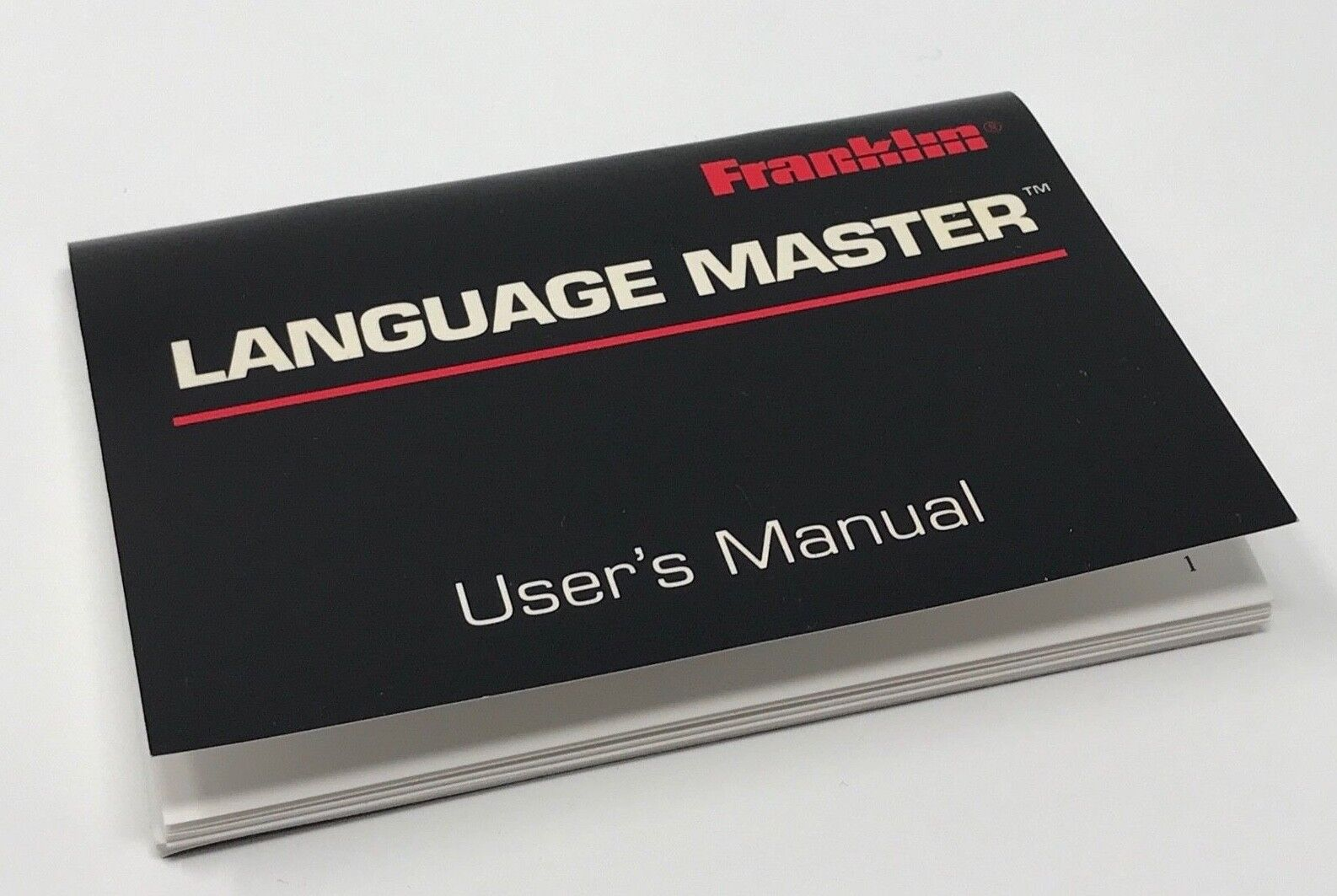 Franklin Language Master Users Manual LM-3000