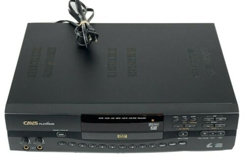CAVS Platinum HDV-201A DVD Player MP3 CD-R/RW VCD Karaoke TESTED WORKS GREAT