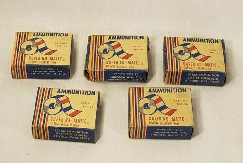 5x Super Nu Matic Paper Buster Gun Toy Ammo Box