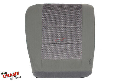 2002-2004 Ford F-250 F-350 F-450 XLT -Driver Side Bottom Cloth Seat Cover Gray - Ford F250 Seat