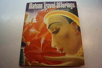 Vtg 1935 Matson Travel Offerings Hawaii   South Seas Ocean Liner Brochure Cruise