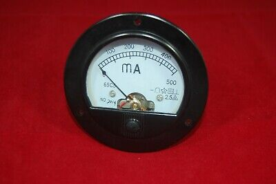 Dc 0-500ma Round Analog Ammeter Panel Amp Current Meter Dia. 90mm Direct Connect