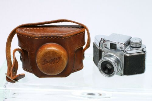 KONICA SNAPPY SUBMINIATURE FILM CAMERA + CASE MADE IN OCCUPIED JAPAN