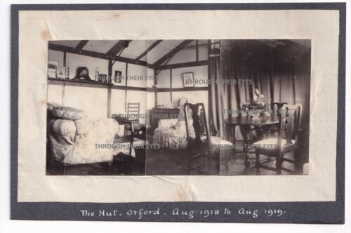 3 Original photos Officers accommodation hut RAF Orford Ness 1919