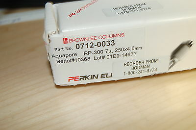 New Pe Hplc Column Brownlee Aquapore Od-300 Perkin Elmer 4.6x250 Mm 7 Um