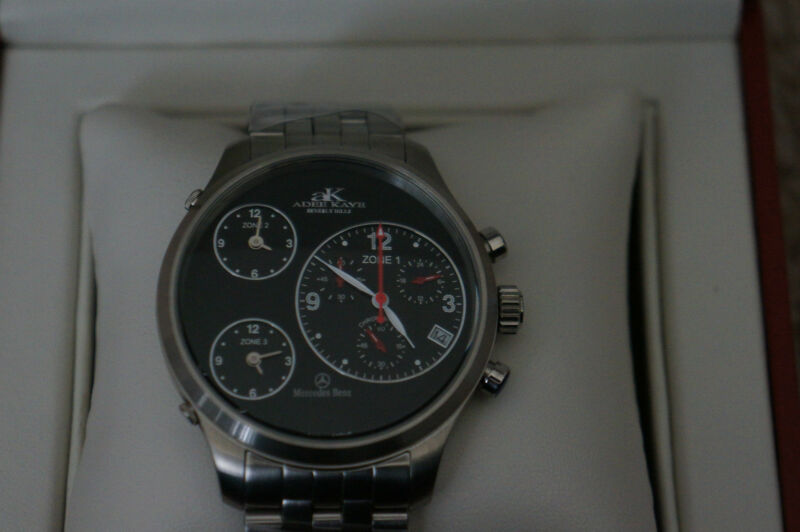 BRAND NEW MERCEDES BENZ THREE TIME ZONE LIMITED EDITION CHRONOGRAPH WATCH MEN