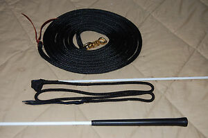 LEAD ROPE W/PARELLI SNAP & HANDY CARROT TRAINING STICK 4 NATURAL HORSE TRAINING