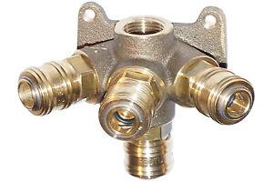 Druckluft-Verteiler Druckluftdose Wanddose Luftverteiler mit 4 Kupplungen